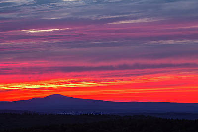 Photograph - Fiery Sunset At Acadia by Stefan Mazzola