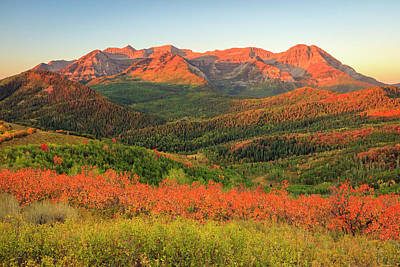 Photograph - Fiery Timp Fall Sunrise by Johnny Adolphson