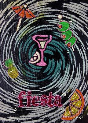 Painting Royalty Free Images - Fiesta Royalty-Free Image by Jacqueline Athmann