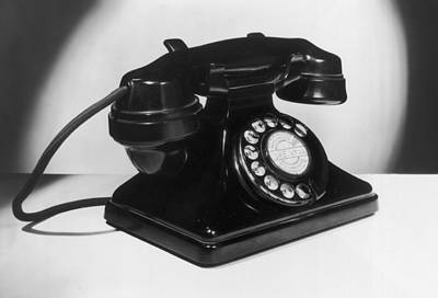 Fifties Telephone Art Print by Fox Photos