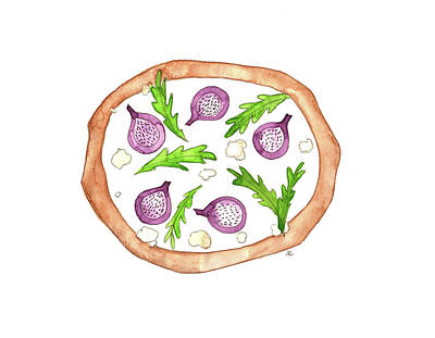 Painting - Fig Pizz by Anna Elkins