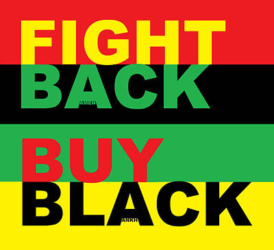 Digital Art - Fight Back Buy Black by Adenike AmenRa