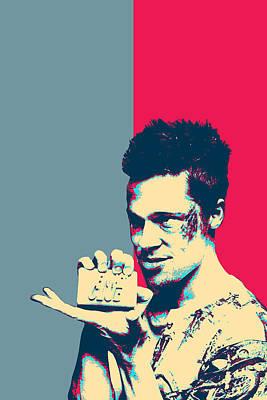 Digital Art - Fight Club Revisited - Tyler Durden  by Serge Averbukh