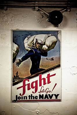 Photograph - Fight Join The Navy by Don Johnston