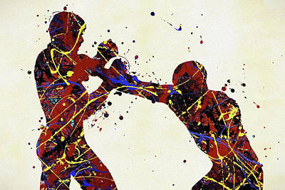 Sports Paintings - Fighters by Dan Sproul