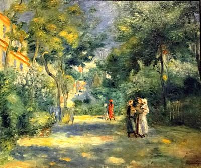 Miles Davis - Figures in a Garden of Montmartre 1880 90 by Pierre Auguste Renoir