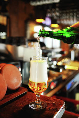 Photograph - Filling A Beer Glass On The Bar Counter by Gm Stock Films