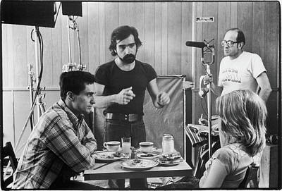 Photograph - Filming Taxi Driver by Fred W. Mcdarrah