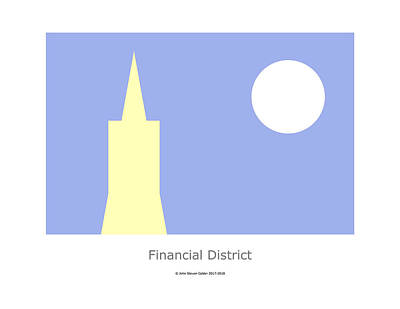 Digital Art - Financial District by John Steven Calder
