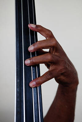 Photograph - Fingers On A Double Bass by Russell Monk