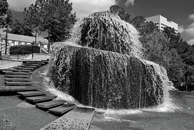 Photograph - Finlay Park Columbia South Carolina 21 B W by Joseph C Hinson Photography