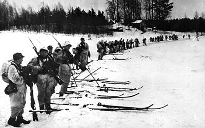 Photograph - Finnish Troops by Hulton Archive