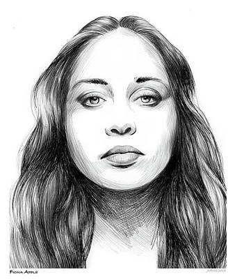 Drawings Royalty Free Images - Fiona Apple Royalty-Free Image by Greg Joens
