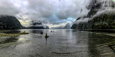 Photograph - Fiord Milford Sound New Zealand South Island By Olena Art by OLena Art Brand