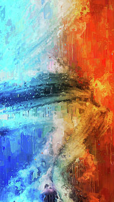 Painting - Fire And Ice - 01 by Andrea Mazzocchetti