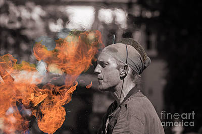 Photograph - Fire-breather by Eva Lechner