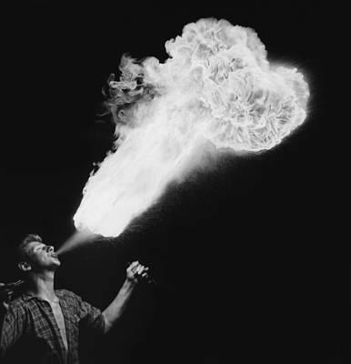 Photograph - Fire-eater by Evening Standard