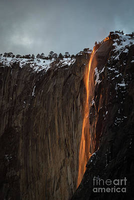 Photograph - Fire Falls by Vincent Bonafede