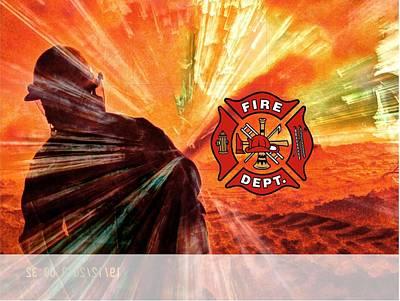 Photograph - Fire Fighting 1 by David Matthews