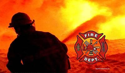 Photograph - Fire Fighting 6 by David Matthews