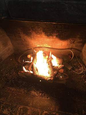Photograph - Fireplace Memories by Matthew Seufer