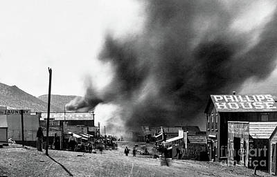 Beaches And Waves Rights Managed Images - Fires Ravage Randsburg, CA - circa 1898 Royalty-Free Image by Doc Braham