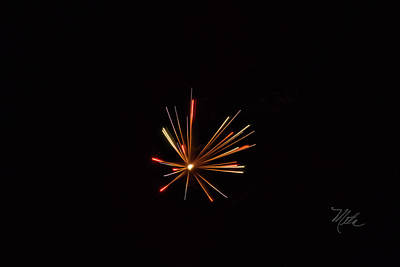 Photograph - Fireworks A Star Is Born by Meta Gatschenberger