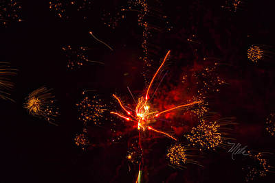 Photograph - Fireworks Alien by Meta Gatschenberger