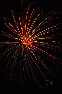 Photograph - Fireworks Burst by Meta Gatschenberger