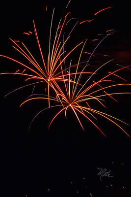 Photograph - Fireworks Dual by Meta Gatschenberger