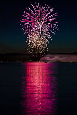 Photograph - Fireworks Over Camp Fatima 2019 by Mike Mcquade
