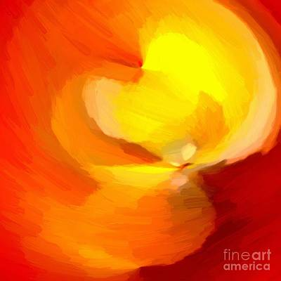 Digital Art - Firey Flame Abstract Painting By Delynn Addams by Delynn Addams