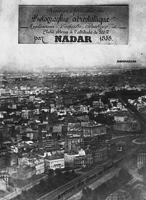 First Aerial Photo Art Print by Nadar