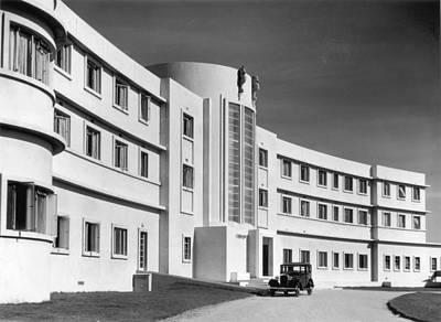 First Art Deco Hotel Art Print by Herbert Felton