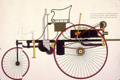 Photograph - First Automobile by Mpi