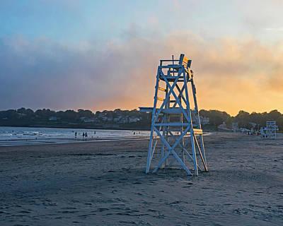 Photograph - First Beach Sunset Newport Ri Rhode Island by Toby McGuire