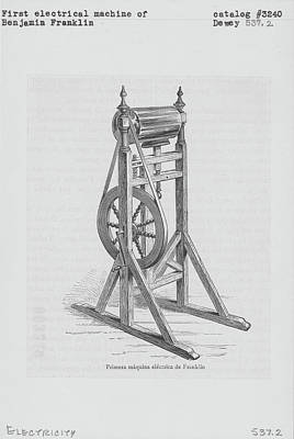First Electrical Machine Of Benjamin Art Print by Kean Collection