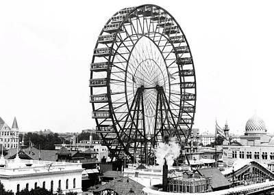 Wall Art - Photograph - First Ferris Wheel - Chicago Worlds Fair 1893 by Daniel Hagerman