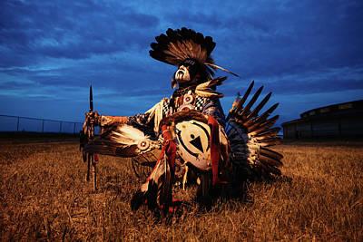 Mans Best Friend - First Nation Dancer by Kamran Ali