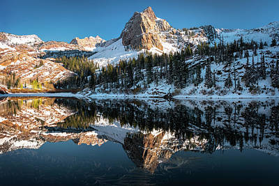 Photograph - First Snow At Lake Blanche by James Udall