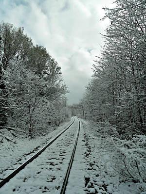 Photograph - First Snow Fall 16 by Cyryn Fyrcyd