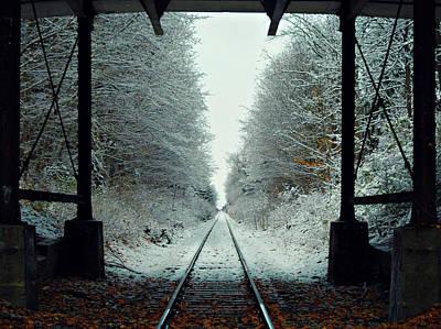 Photograph - First Snow Fall 17 by Cyryn Fyrcyd