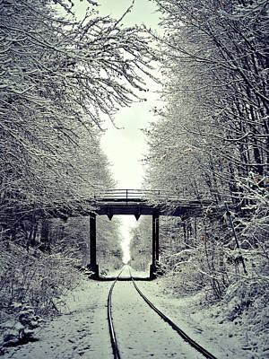 Photograph - First Snow Fall 20 by Cyryn Fyrcyd
