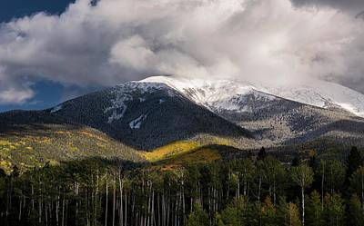 Photograph - First Snow On The Peaks  by Saija Lehtonen