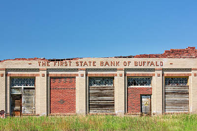 Photograph - First State Bank Of Buffalo by Todd Klassy