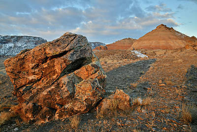Photograph - First Sunlight On Ruby Mountain by Ray Mathis