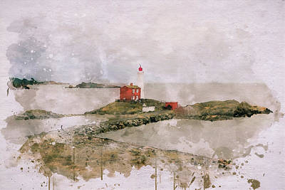 Digital Art - Historic Fisgard Lighthouse by Marilyn Wilson