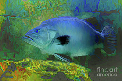 Painting - Fish A18-147 by Ray Shrewsberry