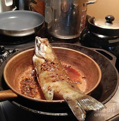 Photograph - Fish In A Pan by Rosanne Licciardi