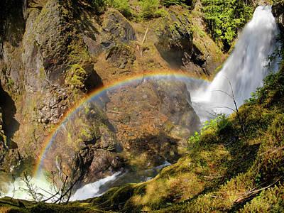Photograph - Fish Ladder Falls by Leland D Howard